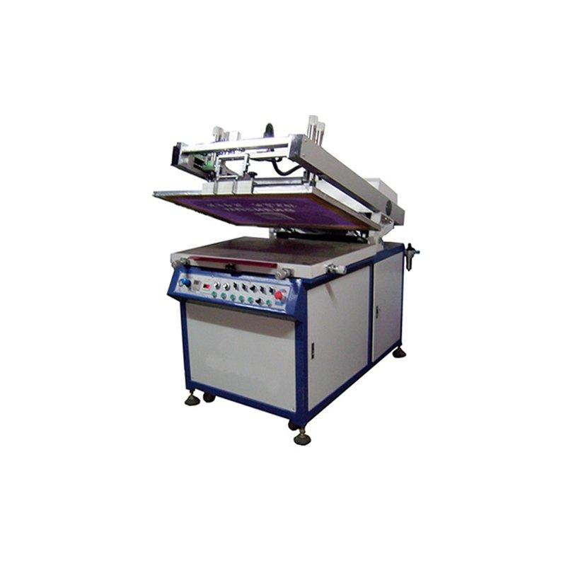 Titled semiautomatic screen printing machine
