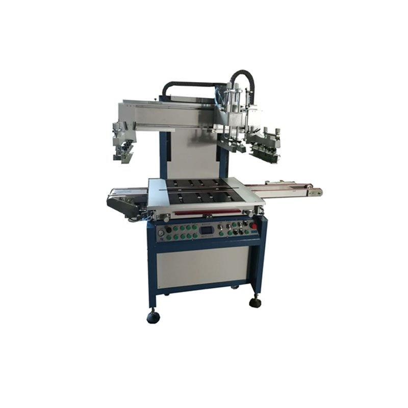 Semiautomatic glass positioning screen printing machine